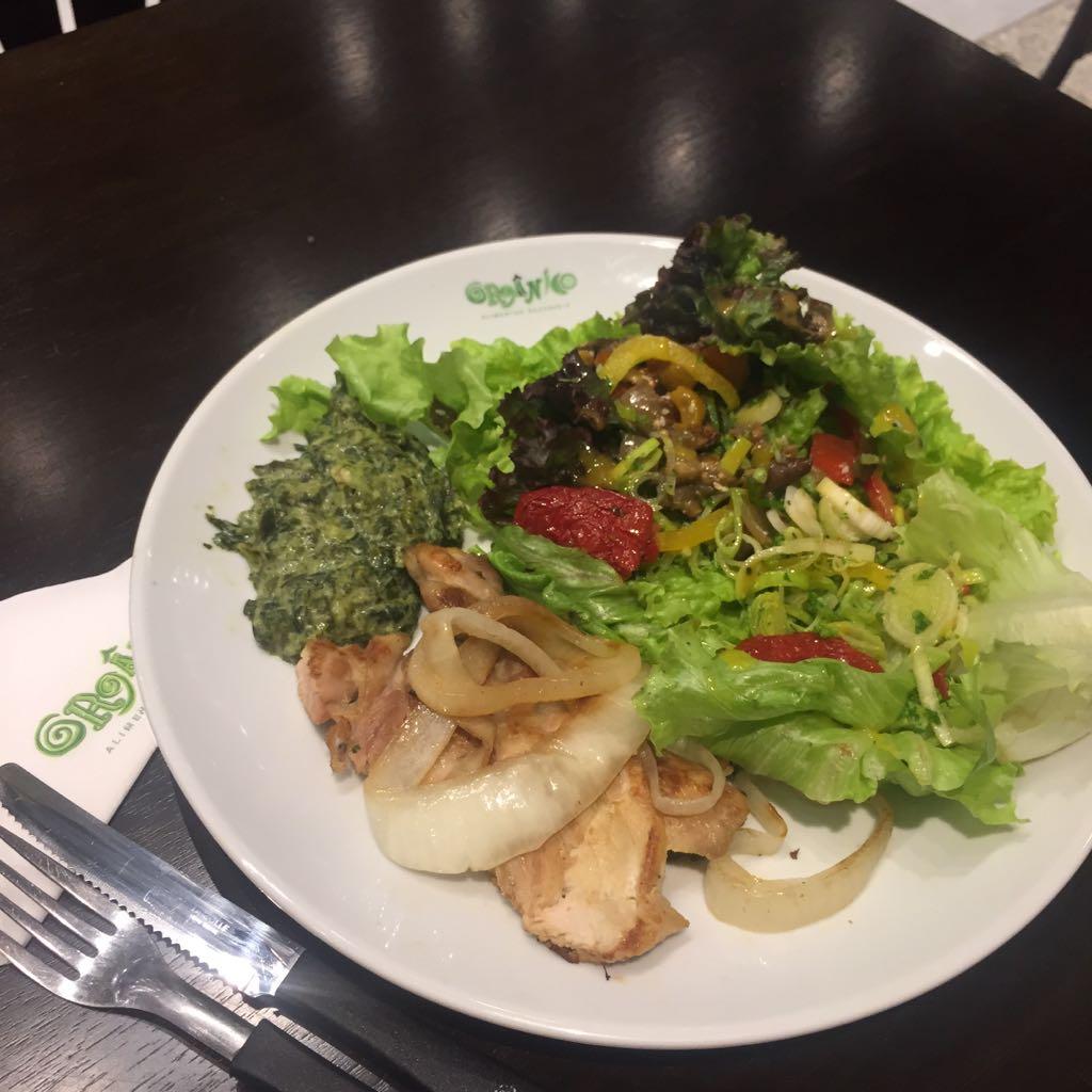 Meu almoço saudável no restaurante Orgânico do shopping Riomar.