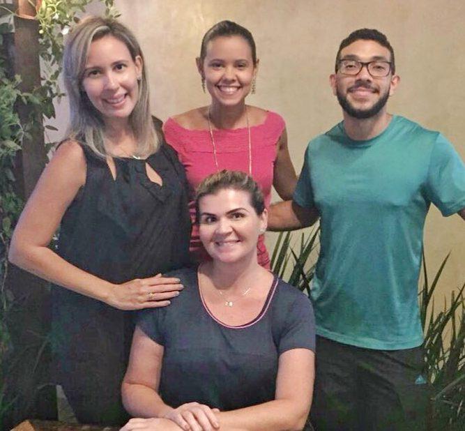 Chef Gabriela Carvalho, o personal trainer Cleiton Freitas e as nutricionistas Karine Holanda e Adriana Sampaio.